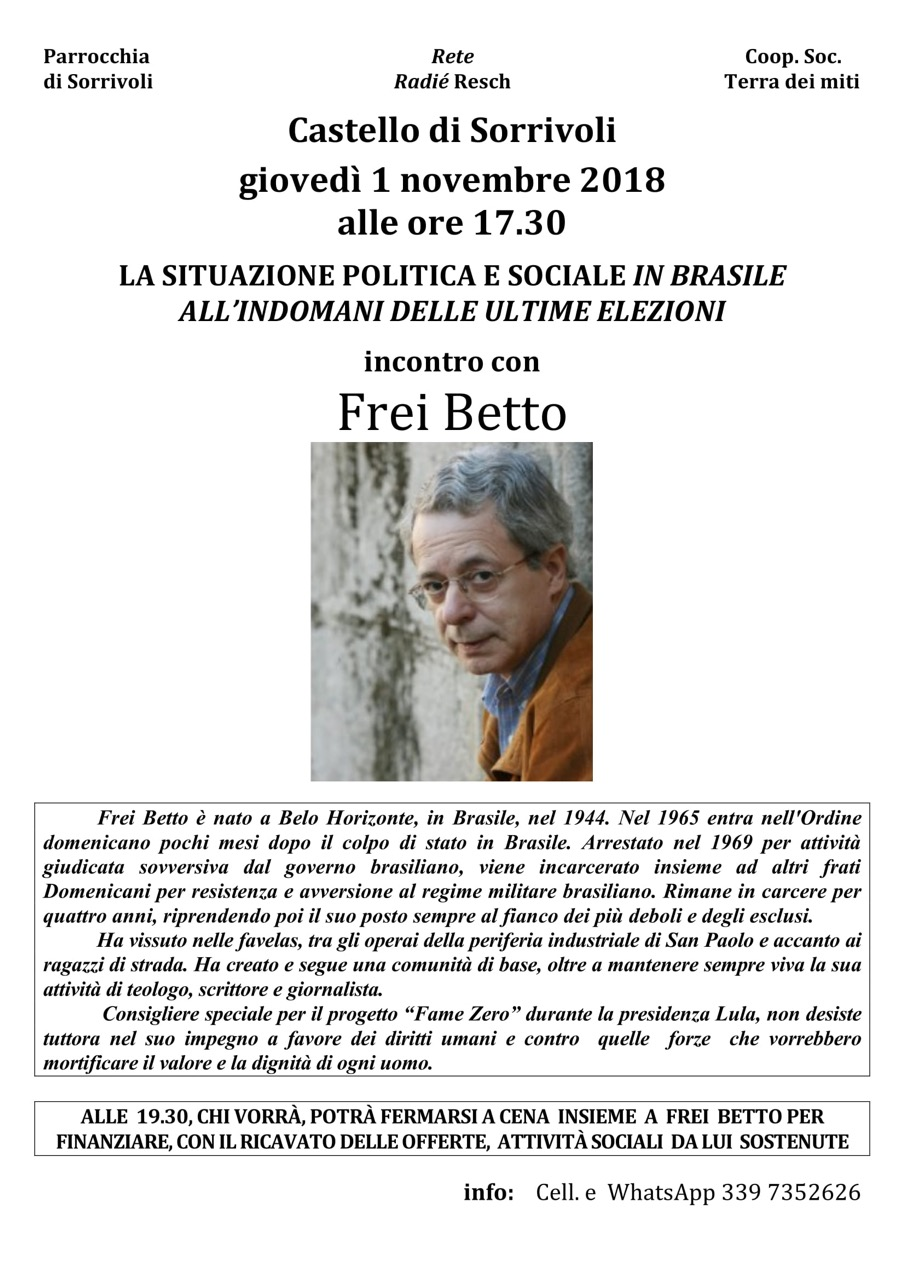 FREI BETTO 1 NOVEMBRE 2018-1