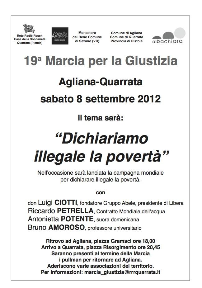 19a Marcia per la Giustizia Agliana-Quarrata